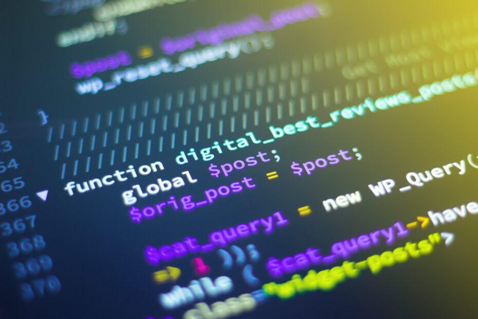 een stuk code in een edit omgeving