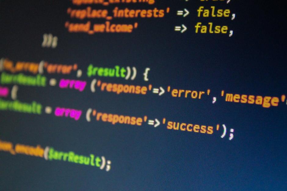 stukje code op een scherm