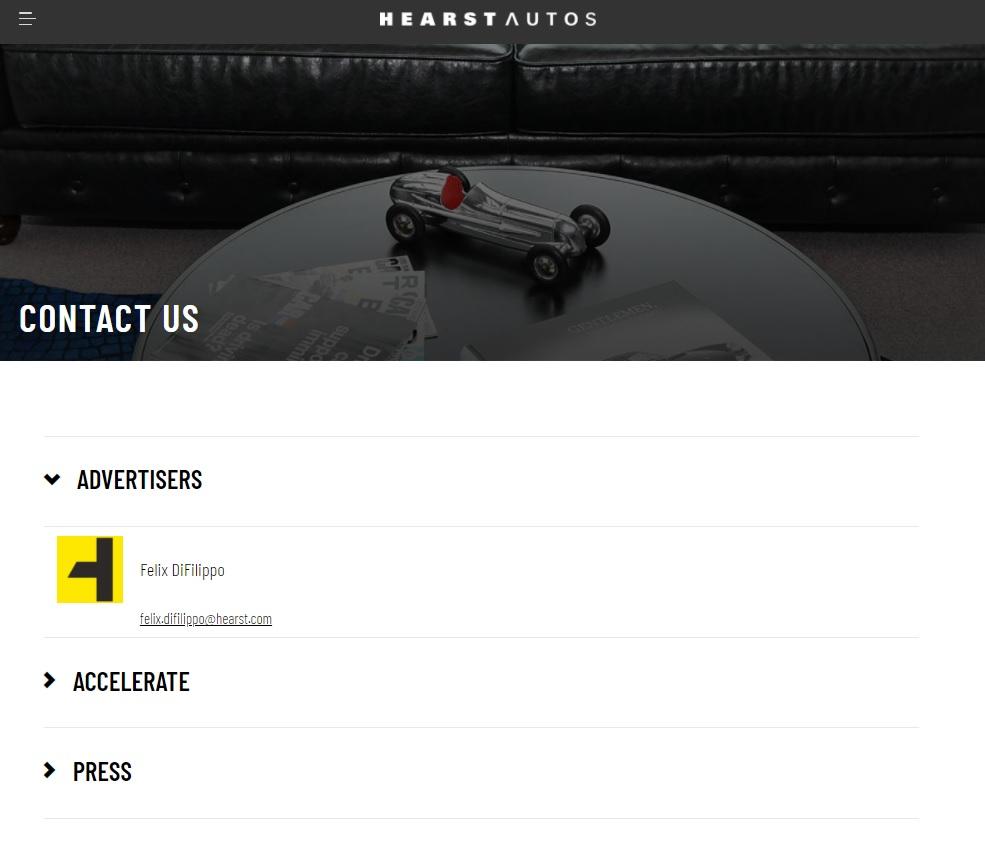 simpele layout van een contactpagina