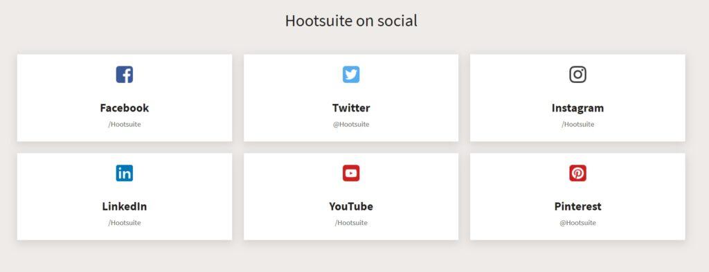 social media buttons op een contactpagina
